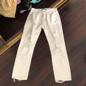 Brandy Melville White skinny jeans